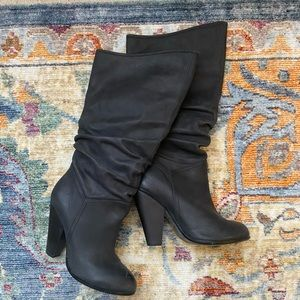 Penny Loves Kenny almond toe slouchy boot